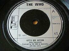 """THE WHO - LET'S SEE ACTION      7"""" VINYL"""
