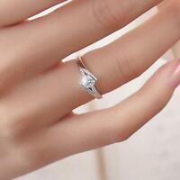 Silber Ring 925er Elements Verlobungsring Zirkonia Rhodiniert Damen