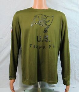 Nike Tampa Buccaneers Salute To Service Long Sleeve Shirt Sz L NEW 938507 395
