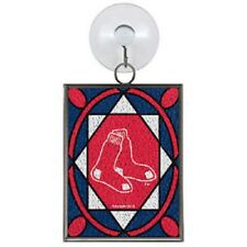 Boston Red Sox Stained Glass Christmas Tree Ornament NEW Sun Catcher