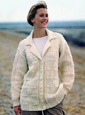 """Knitting Pattern - Ladies Aran Long Jacket 8 sizes-S-L(finished 41.5""""-54"""") P0504"""