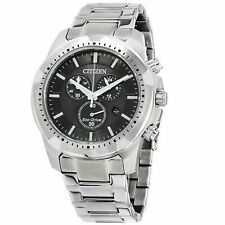 Citizen AT2260-53E Men's 42MM Chronograph Stainless Steel Black Eco-Drive Watch