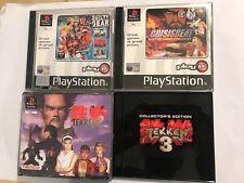 4 PS1 PLAYSTATION 1 PSONE lotta Giochi Bundle TEKKEN 2 +3 + colpevole Gear CRISISBEAT