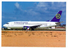 Iceland Express Airlines Boeing 737-300  Postcard