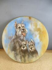 1981 L.E. 3175/7500 My Favorite Pets Schnauzer by Lee Dansan Collector's Plate