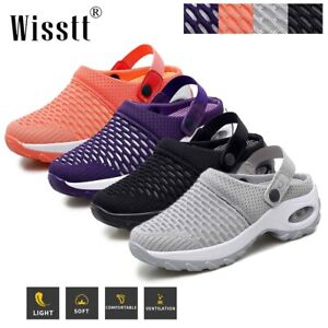 Women Lady Cushioned Sports Sandals Shoes Comfy Mesh Walking Slip-On Sneakers