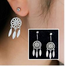 925 Sterling Silver Dream Catcher Style With Simulated Diamond Stud Earrings