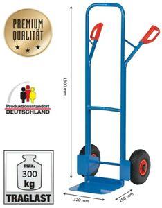 Fetra Sackkarre Stahl Transportkarre 300 kg kratzfest pulverbeschichtet leicht