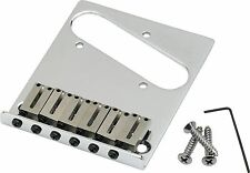 FENDER AMERICAN STANDARD TELE TELECASTER 6-SECTION CHROME BRIDGE ASSEMBLY