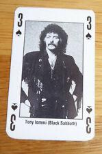 TONY LOMMI BLACK SABBATH SINGLE CARD KERRANG THE KING OF METAL 1990's