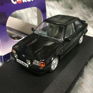 NEW Vanguards 1:43 Ford Escort Mk4 RS Turbo Black VA14301