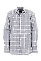 695$ RARE TOM FORD CHECKED GRAY PLAID SHIRT BUTTON UP FRONT LUXURY STYLE SIZE 40