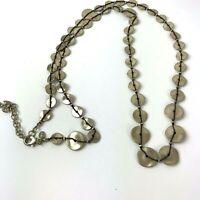 CHICO's Boho Retro Statement Long Necklace Threaded