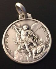 ⛪️ Saint Michael Archangel ✙ Blessed by Pope - 925 SILVER MEDAL-Patron of Police