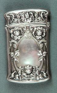 Antique Sterling Silver Gorham Match Safe Vesta Case with Monogram #B2199