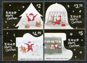Hong Kong Christmas Stamps 2020 MNH Santa Festive Scenes Reindeer 4v Set
