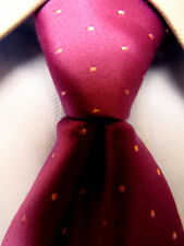 Mens Thomas Pink Red Silk Tie Made in France A3017