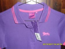 BNWT Girls purple & pink Lonsdale short sleeve t-shirt - Size 8 (XS)