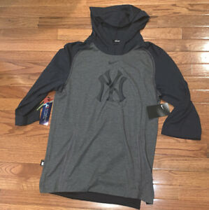 Men's NYY New York Yankees Nike Flux Performance 3/4-Sleeve Hoodie NWT Small