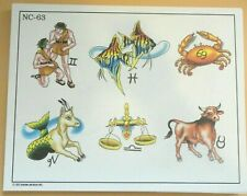 2002 Don Nolan Spaulding & Rogers Color Tattoo Flash Sheet NC-63 Zodiac Taurus