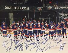 NEW YORK ISLANDERS 2015-16 TEAM SIGNED 16x20 PHOTO TAVARES OKPOSO BOYCHUK HALAK