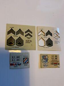 Vintage Gi Joe 1964 sticker sheet lot