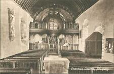 Newquay. Crantock Church interior  vintage pc    qq1207