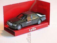 MERCEDES-BENZ S-Klasse S600 W140 schwarz BOSE SOUND Sondermodell HERPA 1:87 RAR
