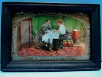 """ANTIQUE 1909 FRAMED ART DECO POSTCARD """"THE TIME the PLACE and the GIRL"""""""