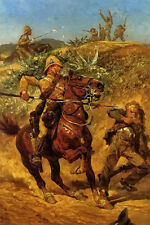 Oil painting richard caton woodville - the boer war horseman soldiers on canvas