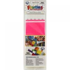 TYVEK WRISTBAND PINK COLOUR PACK OF 100 EVENT PARTY ENRTY IDENTIFICATION