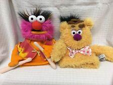 "Lot x2 Muppets 10"" Hand Puppets FOZZIE Bear ANIMAL Gund Disney Plush Toys The"