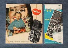 Konvolut Rollei Rolleiflex Rolleicord Broschüre 1955 Franke & Heidecke Braunschw