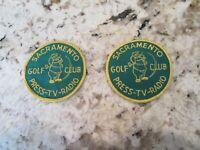Rare Vintage Golf Patch Sacramento Golf Club California Press☆