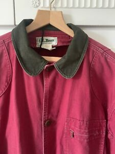 L.L. Bean Red Canvas Hunting Jacket - Large