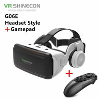 3D VR Virtual Reality Glasses Headsets Remote Control For iPhone Samsung Huawei