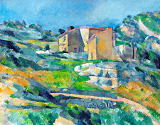 Houses in Provence-The Riaux Valley near LEstaque by Paul Cezanne A1+ Art Print