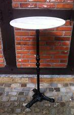 Stehtisch Partytisch Marmor Gastro Bistrotisch Bar Tisch weiß mit Gussfuß 110cm