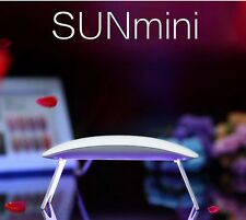 SUN MINI 2 UV LED NAIL LAMP ASCIUGA GEL UNGHIE LAMPADA 6W USB CURE NAIL ART