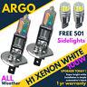 H1 Xenon Super White 100w Main Dipped Beam Headlamp Sidelight Led 501 Bulbs 12v
