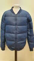 S811 MENS HILFIGER DENIM NAVY BLUE PUFFER JACKET UK L EU 54 TO CLEAR