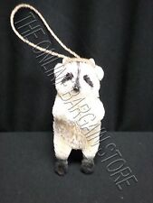 1 Pottery Barn PB Woodland Whimsy Racoon Ornament Christmas Holiday Bottle Brush