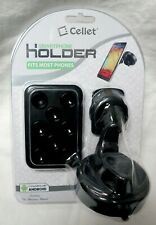 Cellet Universal Cradle-Less Car Smartphone Holder with 8 Suction Cup Holder