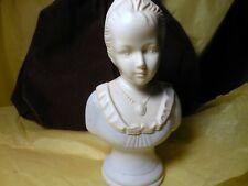 Avon Collectible Figurine Maiden White Alabaster-Like 1974 Home Decor