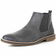 722ef59210d Alpine Swiss Mens Nash Chelsea Boots Snakeskin Ankle Boot Genuine Leather  Lined