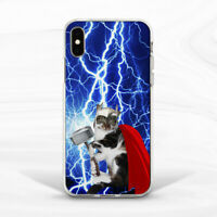 Lightning Mjolnir Thor Cat Case Cover For iPhone 6S 7 8 Xs XR 11 Pro Plus Max