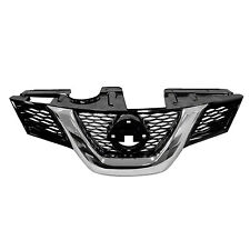 Front Grille Chrome & Black Fits Nissan Rogue 2014 2015 2016 w/Camera NI1200259