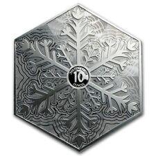 USA 10 oz Hexagon Snowflake Schneeflocke 999 Silberbarren 6 eckig eingeschweißt
