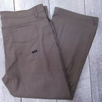 prAna Breathe Brion Outdoor Hiking Pants Mens 40x28 Brown Slim Fit Straight J312
