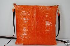 Elisabeth Weinstock 'Tokyo' ORANGE  PYTHON  SHOULDER /CROSS BODY BAG